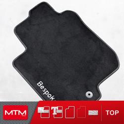 tappeti auto MTM Top - bordo nero similpelle - impuntura bianca