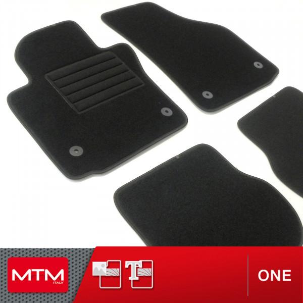 Tappetini SEAT LEON 5f a partire dal 2012 - Antracite Auto Tappeti Ago Feltro 4tlg