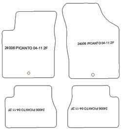 AUTO-tappetini Classic Stick selezionabile per KIA PICANTO sa 2004-2011 TAPPETI AUTO